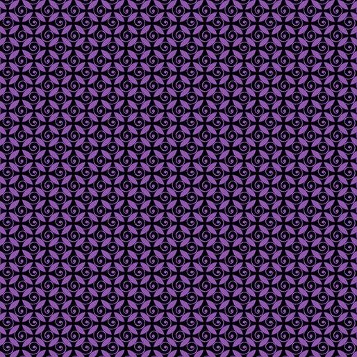 Pansy Noir By Kanvas Studio For Benartex - Purple