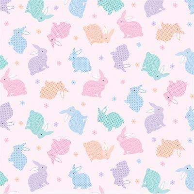 Love Bunny By Kanvas Studio For Benartex - Pink