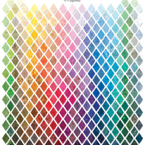 Bali Watercolors Palette Digital Print By Hoffman - Multi
