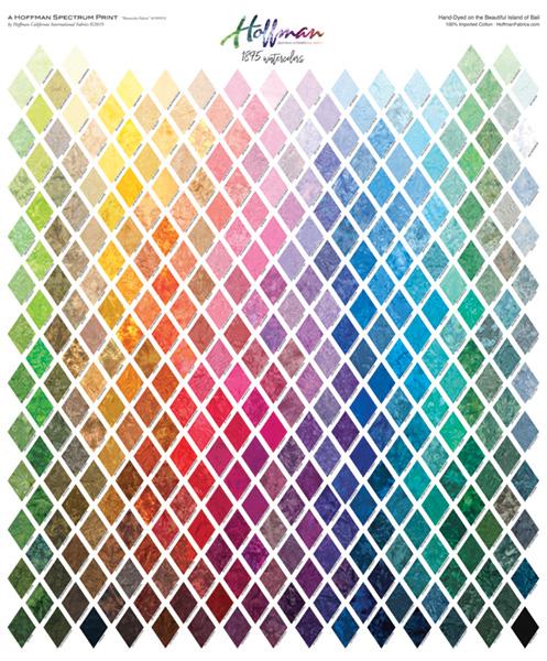 Bali Watercolors Palette Digital Print By Hoffman - Multi