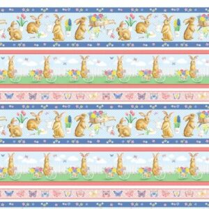 Bunnies And Blossoms By Kanvas Studio For Benartex - Multi