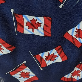 Canadian Flag Print By Hoffman - Navy