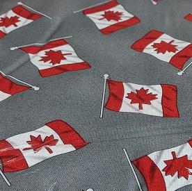 Canadian Flag Print By Hoffman - Grey