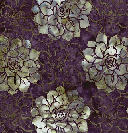 Oasis Batiks By Mckenna Ryan For Hoffman - Eggplant