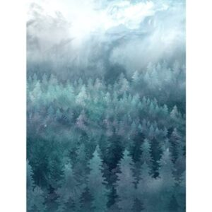 Painted Forest Digital Print By Mckenna Ryan For Hoffman - Teal