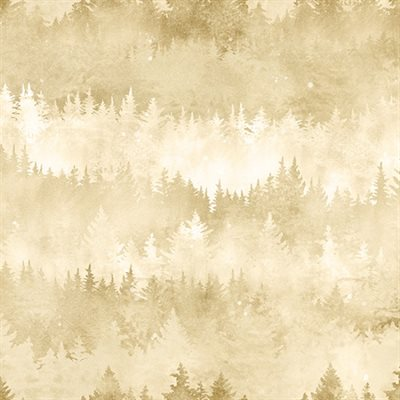 Painted Forest Digital Print By Mckenna Ryan For Hoffman - Cream