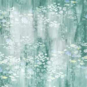 Painted Forest Digital Print By Mckenna Ryan For Hoffman - Seafoam