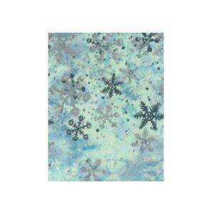 Winter's Magic Bali Batiks By Gwen Carreon For Hoffman - Aqua