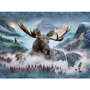 Call Of The Wild - Moose Digital Print By Hoffman - Waterfall