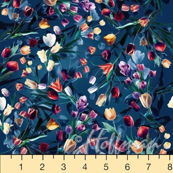 All Purpose Flower Digital Print By Hoffman - Royal