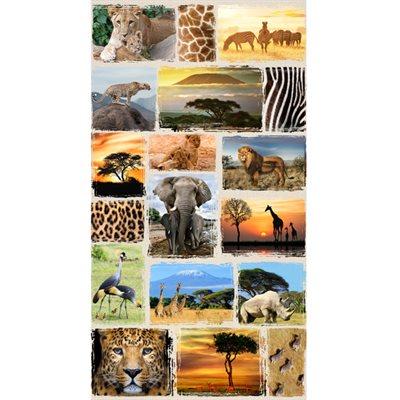 Wild Kingdom Digital Print By Hoffman - Savannah