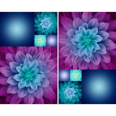 Kablooms Digital Print By Hoffman - Aurora