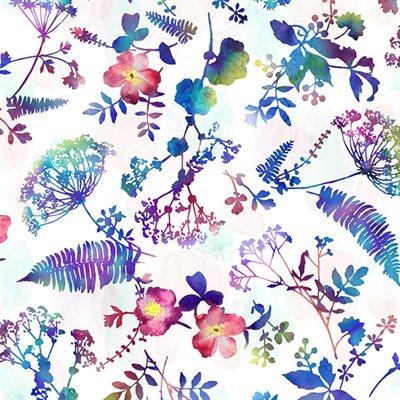 Electric Garden Digital Print By Hoffman - Jewel