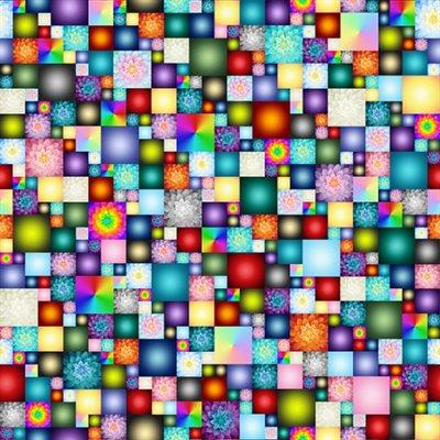 Kablooms Digital Print By Hoffman - Multi