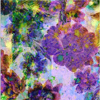 Through The Lens Digital Print By Hoffman - Purple Haze