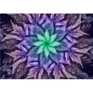Dream Big Leaf Digital Print By Hoffman - Plum