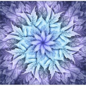 Dream Big Leaf Digital Print By Hoffman - Purple Haze