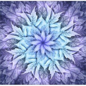 Dream Big Leaf Digital Print By Hoffman - Purple Haze