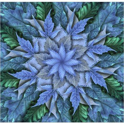 Dream Big Leaf Digital Print By Hoffman - Bluegrass