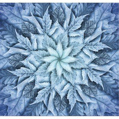 Dream Big Leaf Digital Print By Hoffman - Arctic Blue