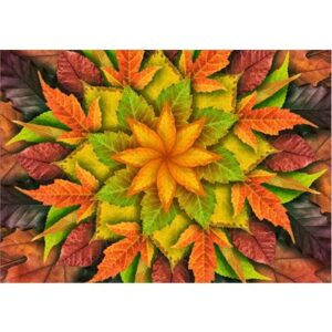 Dream Big Leaf Digital Print By Hoffman - Autumn