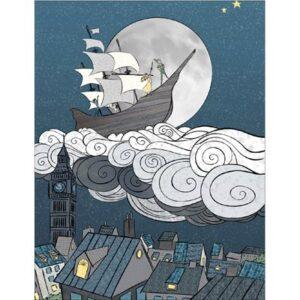 Storybook Digital Print By Hoffman - Midnight