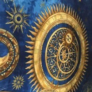 Star Gazing By Hoffman - Navy/Gold