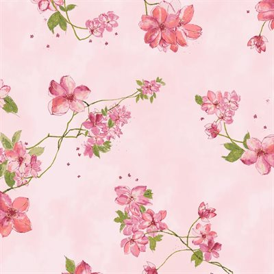Painted Petals By Hoffman - Blush/Gold