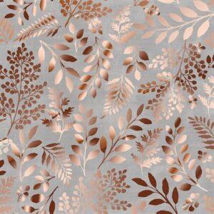 Lilac & Sage By Punch Studio For Rjr Fabrics - Metallic - Grey