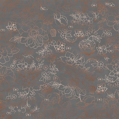 Lilac & Sage By Punch Studio For Rjr Fabrics - Metallic - Grey