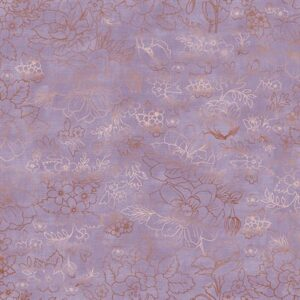 Lilac & Sage By Punch Studio For Rjr Fabrics - Metallic - Lavender
