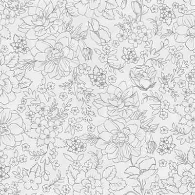 Lilac & Sage By Punch Studio For Rjr Fabrics - Fog