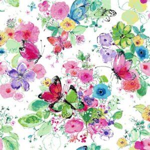 Bloom Bloom Butterfly By Rjr Studio For Rjr Fabrics - Carnation