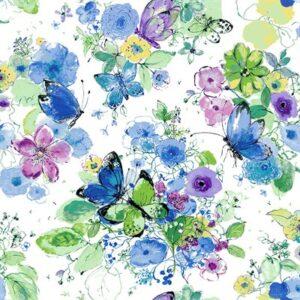 Bloom Bloom Butterfly By Rjr Studio For Rjr Fabrics - Iris