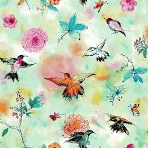 Bloom Bloom Butterfly By Rjr Studio For Rjr Fabrics - Seafoam