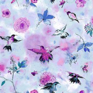 Bloom Bloom Butterfly By Rjr Studio For Rjr Fabrics - Sky