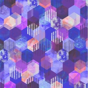 Geometry Digiprint By Rjr Studio For Rjr Fabrics - Violet