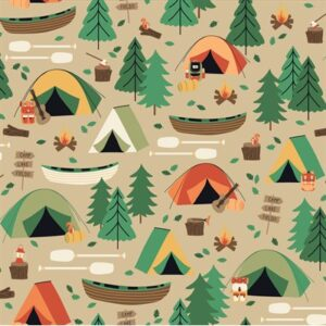 Camping Crew By Rjr Studio For Rjr Fabrics - Bark