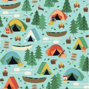 Camping Crew By Rjr Studio For Rjr Fabrics - Sky