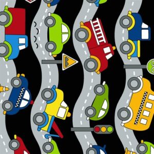 Traffic Jam By Kids Quilt For Rjr Fabrics - Black