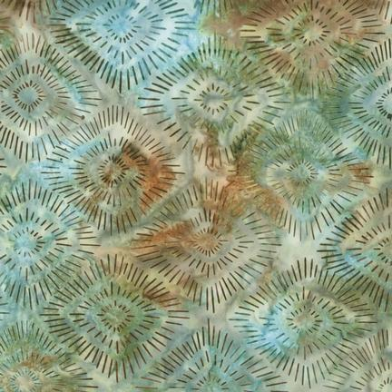 Southern Exposure Batiks By Laundry Basket - Sage