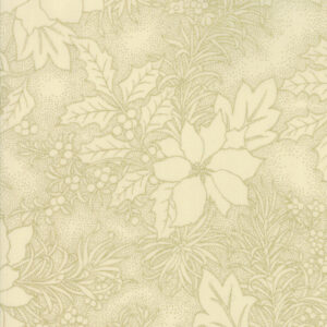 Gilded Greenery Metallic By Moda - Cream