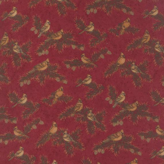 Cardinal Reflection Flannels By Holly Taylor - Cardinal Red