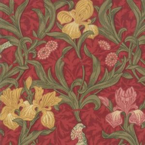 May Morris Studio By V & A For Moda - Crimson