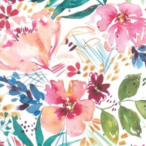 Brightly Blooming Digital By Create Joy Project For Moda - White