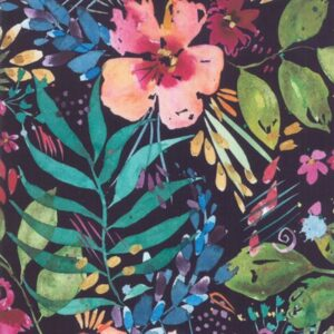 Brightly Blooming Digital By Create Joy Project For Moda - Navy