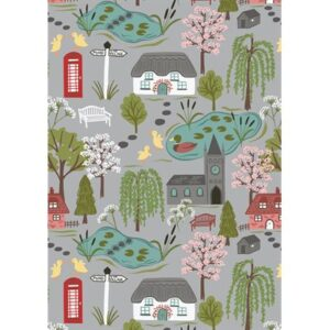 The Village Pond By Lewis & Irene - Light Grey