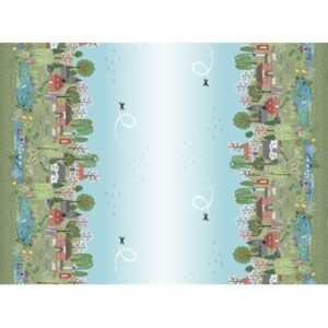 The Village Pond By Lewis & Irene - Digital Panel/Border Print