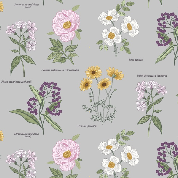 Botanic Garden By Lewis & Irene - Light Grey