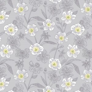 Botanic Garden By Lewis & Irene - Lightest Grey
